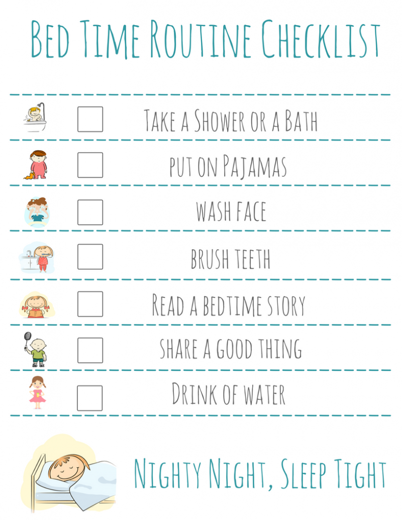 graphic relating to Bedtime Routine Chart Printable called Mattress Period Timetable Record: Cost-free Printable -
