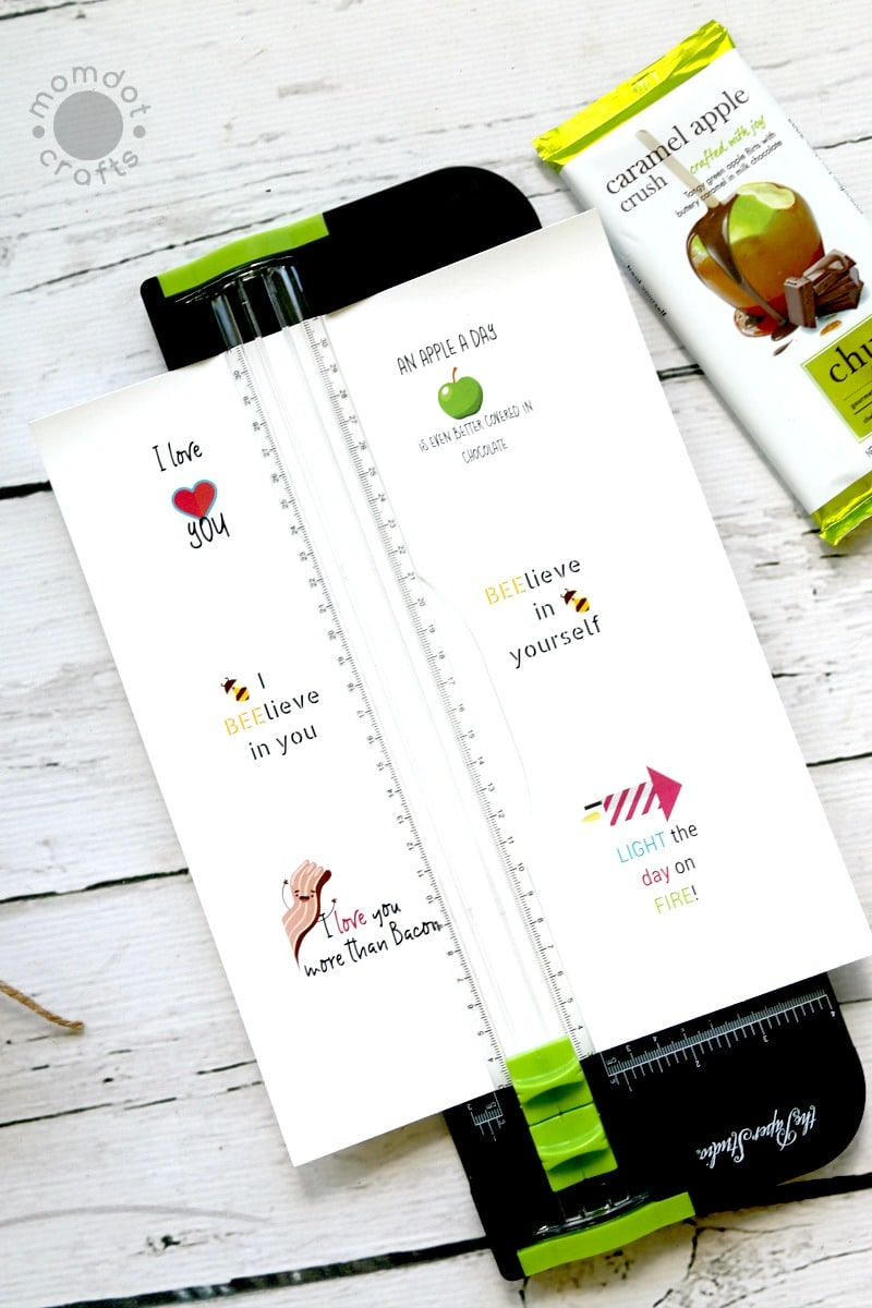 FREE Chocolate Bar Tag printables : Treat someone special with a unique candy bar and tag it with this free printable, fun inspiration for parents, teachers, and gifting