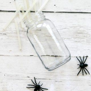 Spider Web Mason Jars: DIY