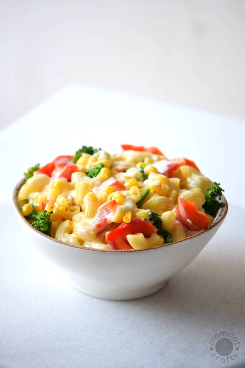 Steamed Veggies Mac and Cheese recipe (sneak in some veggie goodness for the kids!)