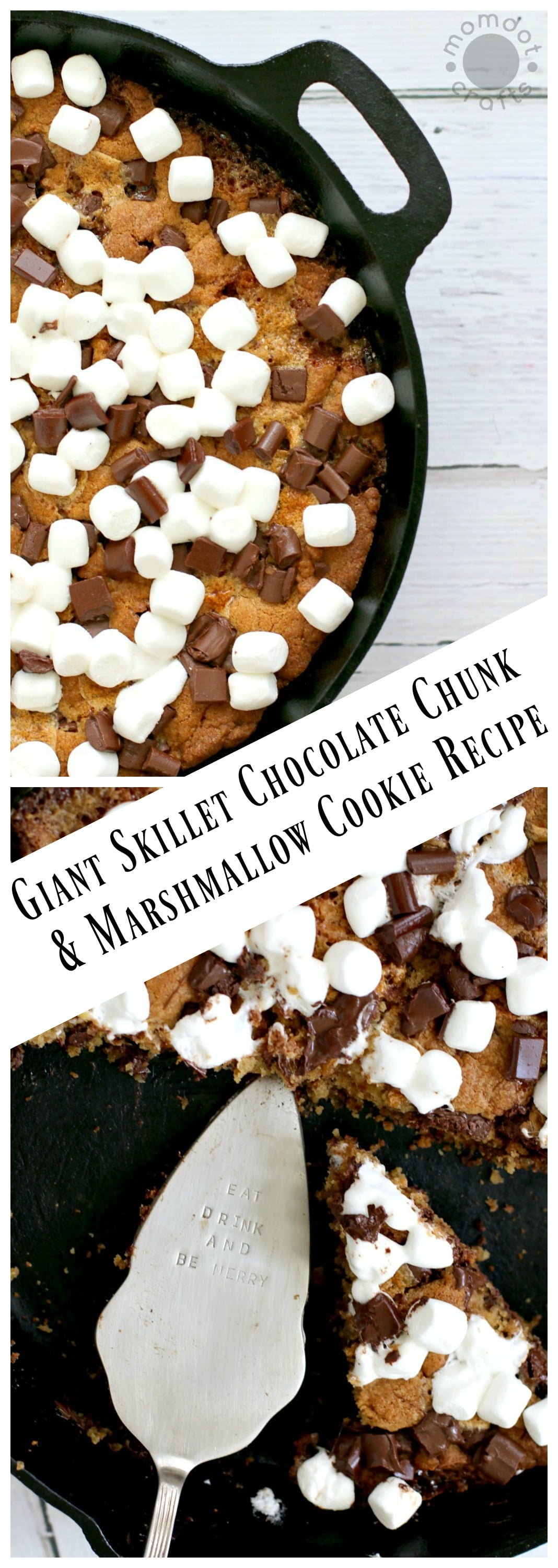 Cast Iron Skillet Cookie Recipe - Giant Skillet Chocolate Chunk and Marshmallow Cookie Recipe,