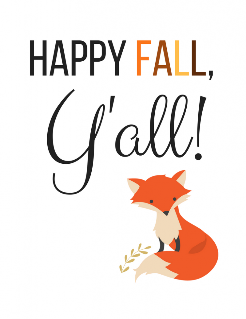 happy fall, y'all print