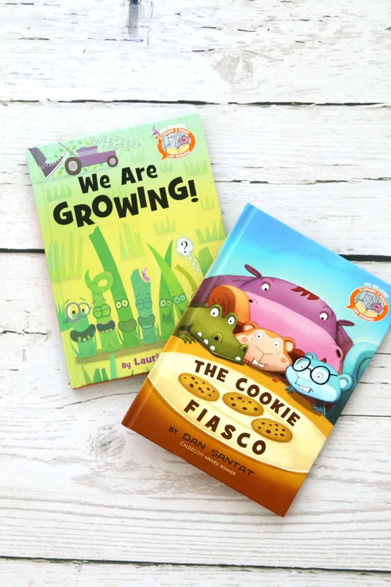 A new beginning-reader series created by Mo Willems : The Cookie Fiasco and We are Growing , perfect exciting books for your new readers, fun pictures and easy to read words