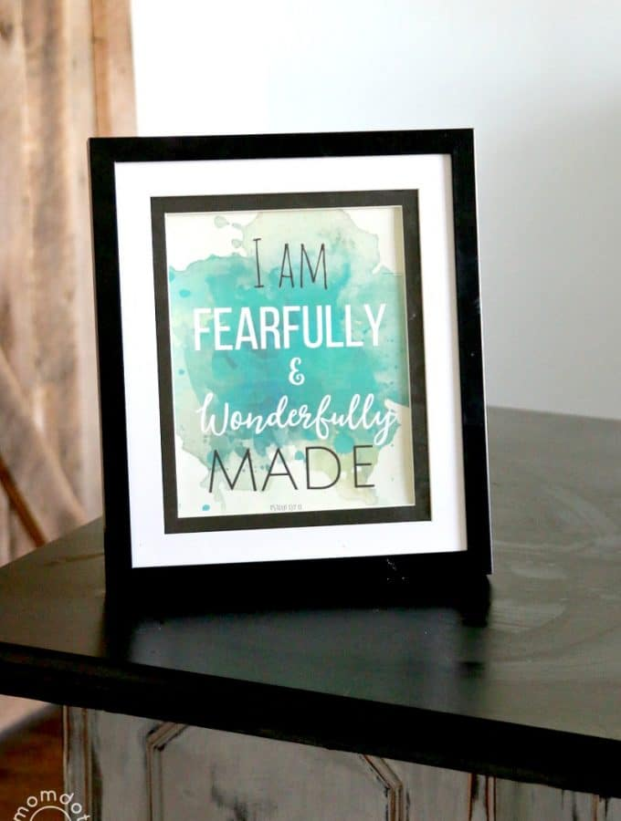 Free Printable for the Home : Water color quote decor , just print and frame, perfect for an office or bedroom 8x10