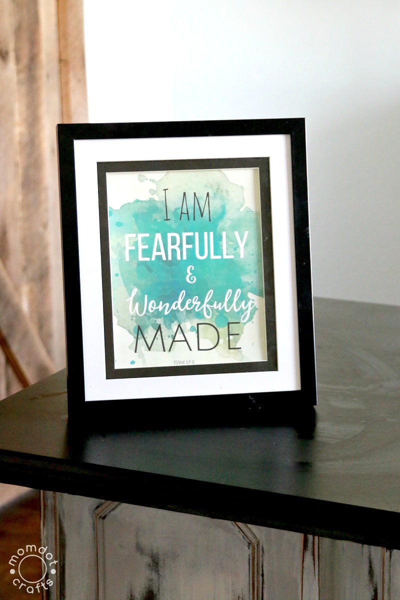 Free Printable for the Home : I am Fearfully and Wonderfully Made