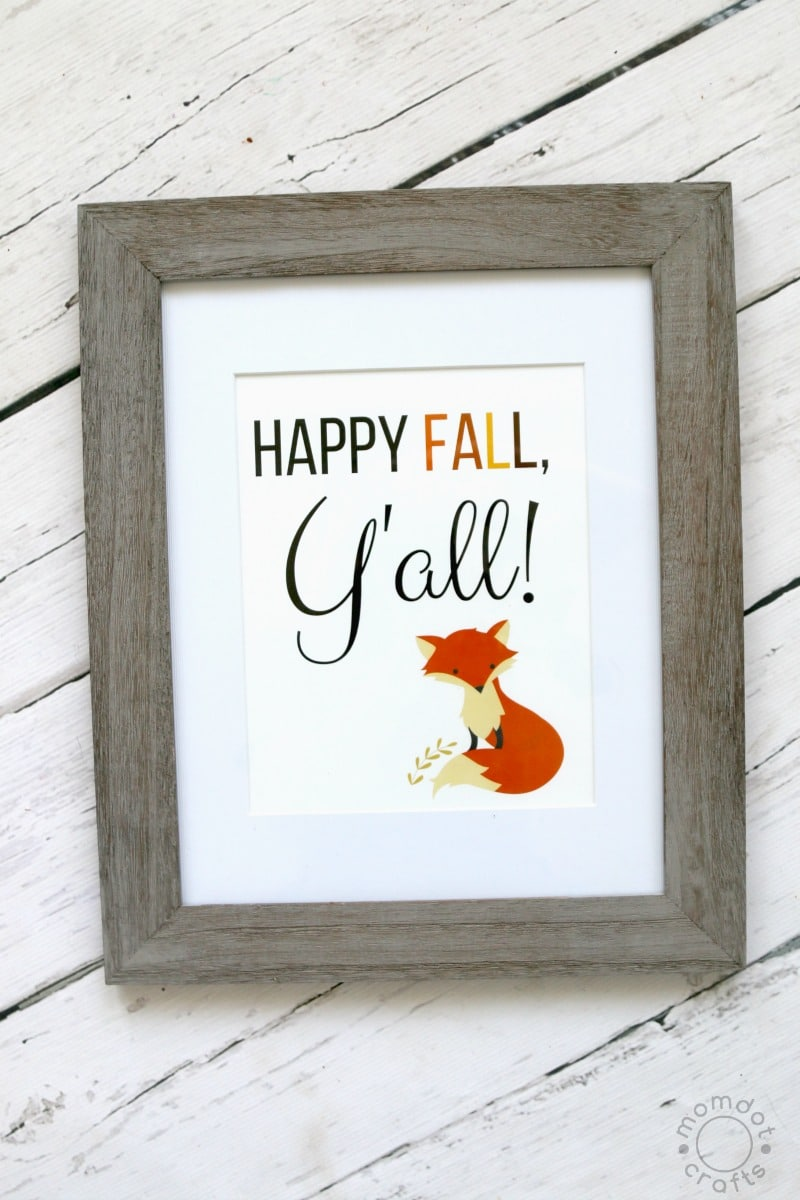 FREE FALL PRINTABLE: Happy Fall, Y'all - available in 8x10 print and Card size