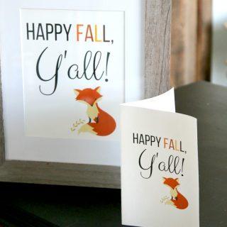 Happy Fall, Y'all : FREE FALL PRINTABLE