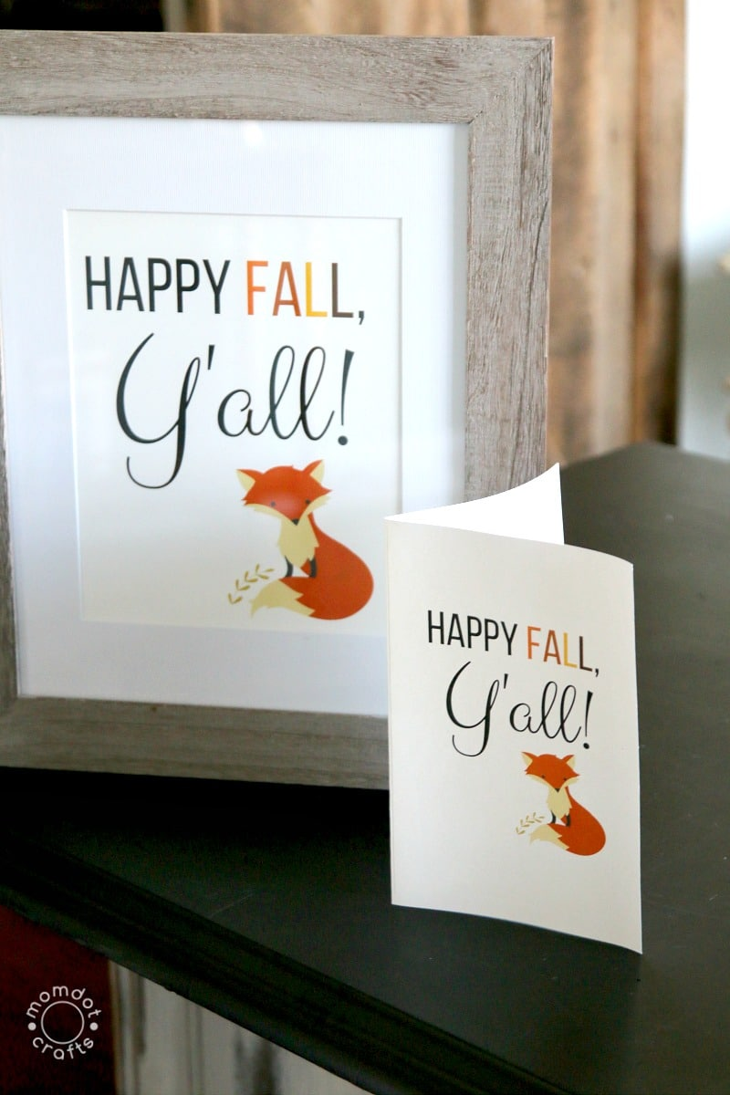 Happy Fall, Y'all : FREE FALL PRINTABLE