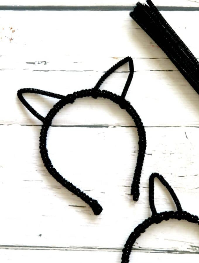 DIY Cat Ears Headband for Costume, Halloween, or Cosplay