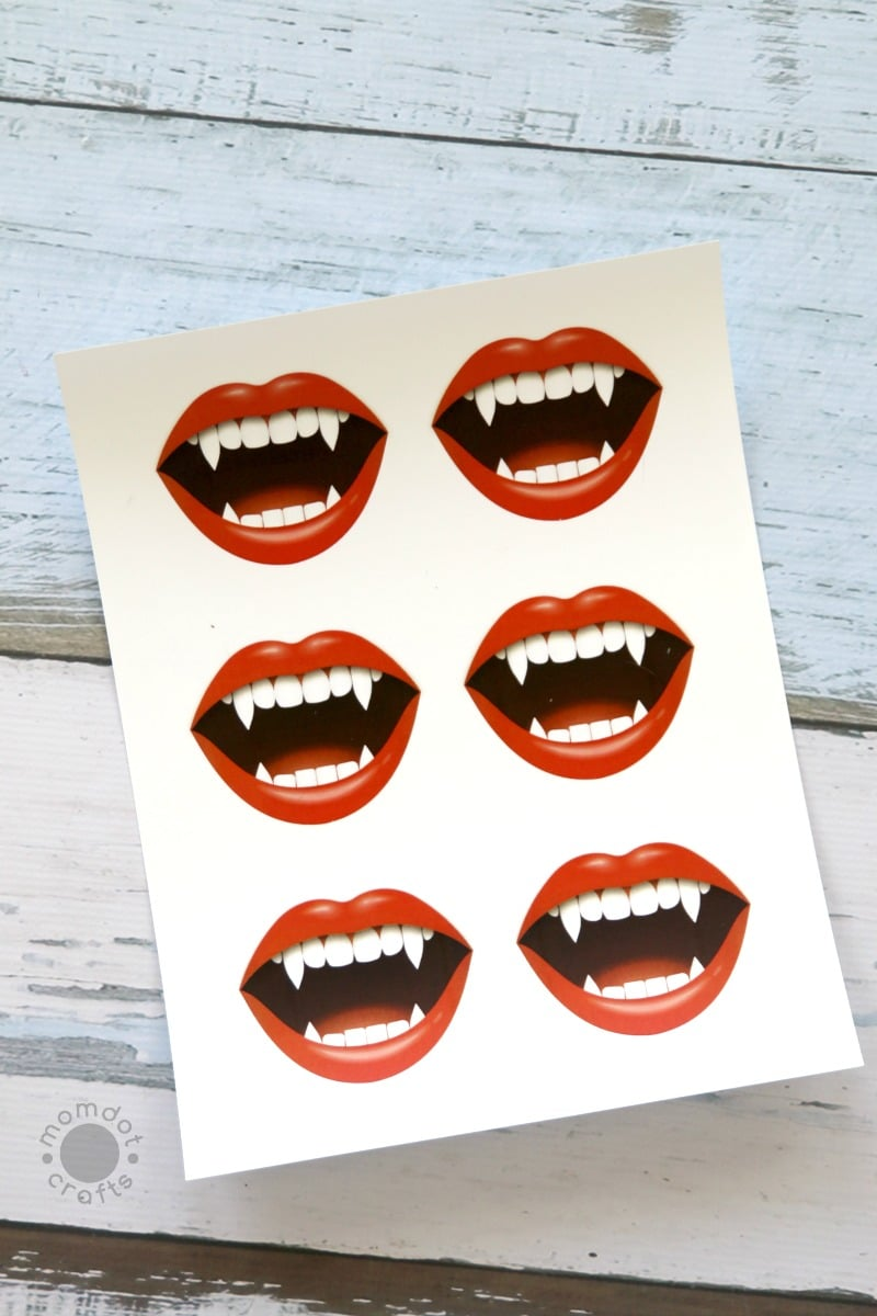 """""""I Vant to Suck Your Sucker!"""" Halloween Printable: Lollipop (Sucker) Vampire Print, just print and add to your sucker for a hilarious classroom party idea or to pass out on Halloween night. Easy craft without the work!"""