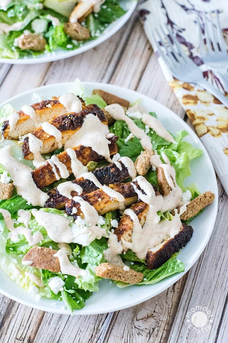 Cajun Chicken Caesar Salad Recipe - WOAH SO GOOD!