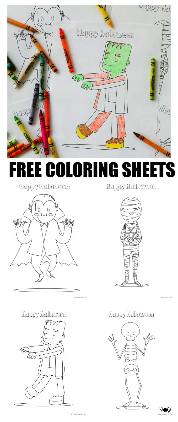 free halloween coloring sheets printables for kids momdot