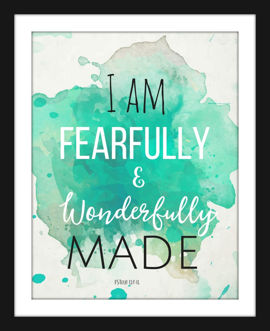 picture regarding Free Printable Quotes to Frame known as Absolutely free Printable for the Household : I am Fearfully and Fantastically