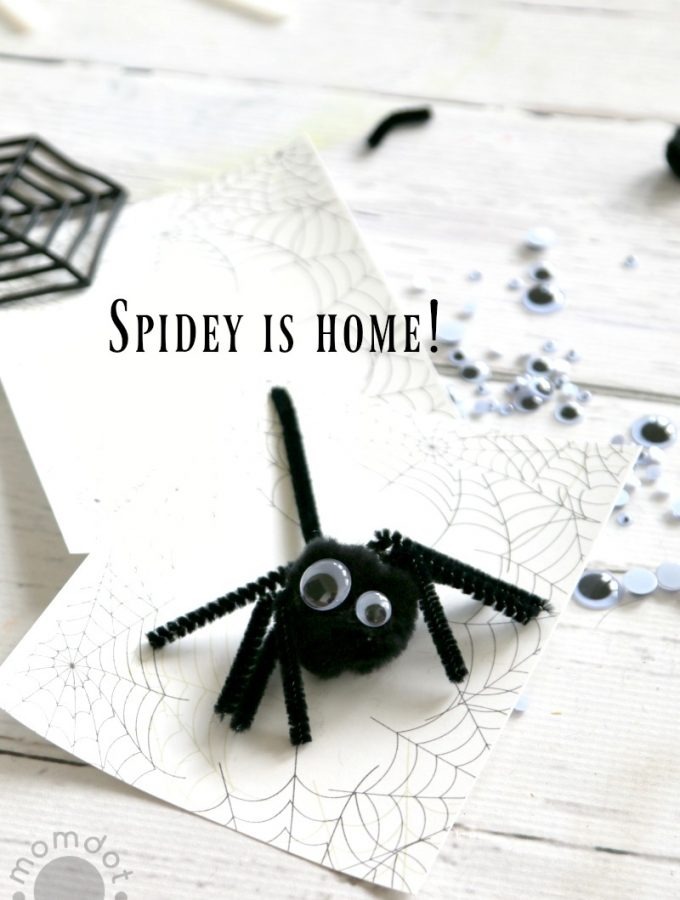 Kids Halloween Craft Idea: Free Spiderweb Template + Create a Spider Craft (Send Spidey Back to his home!