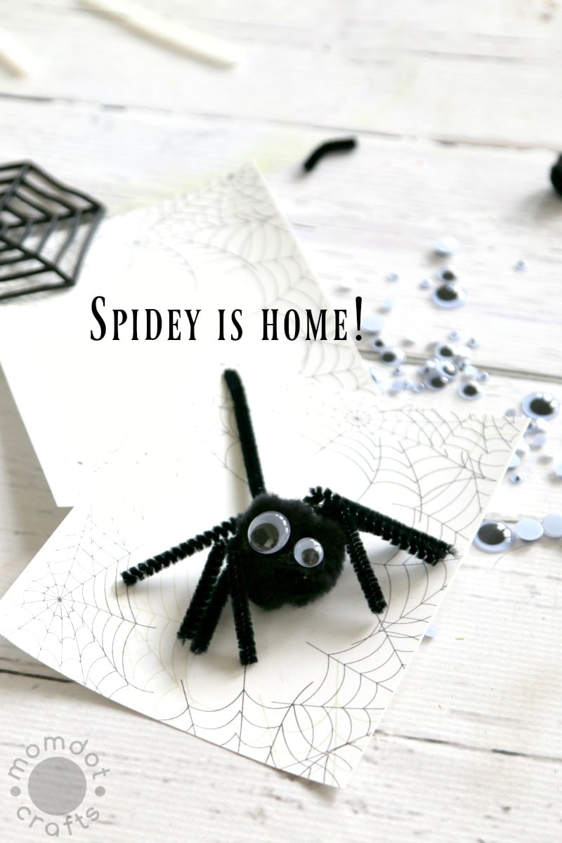 diy 3d spider with free spider web template