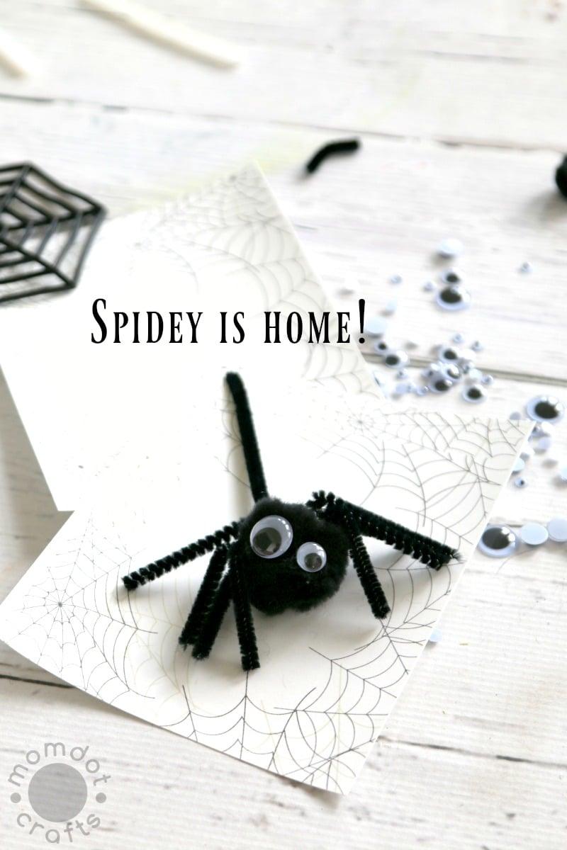 Kids Halloween Craft Idea: Free Spiderweb Template + Create a Spider Craft (Send Spidey Back to his home!