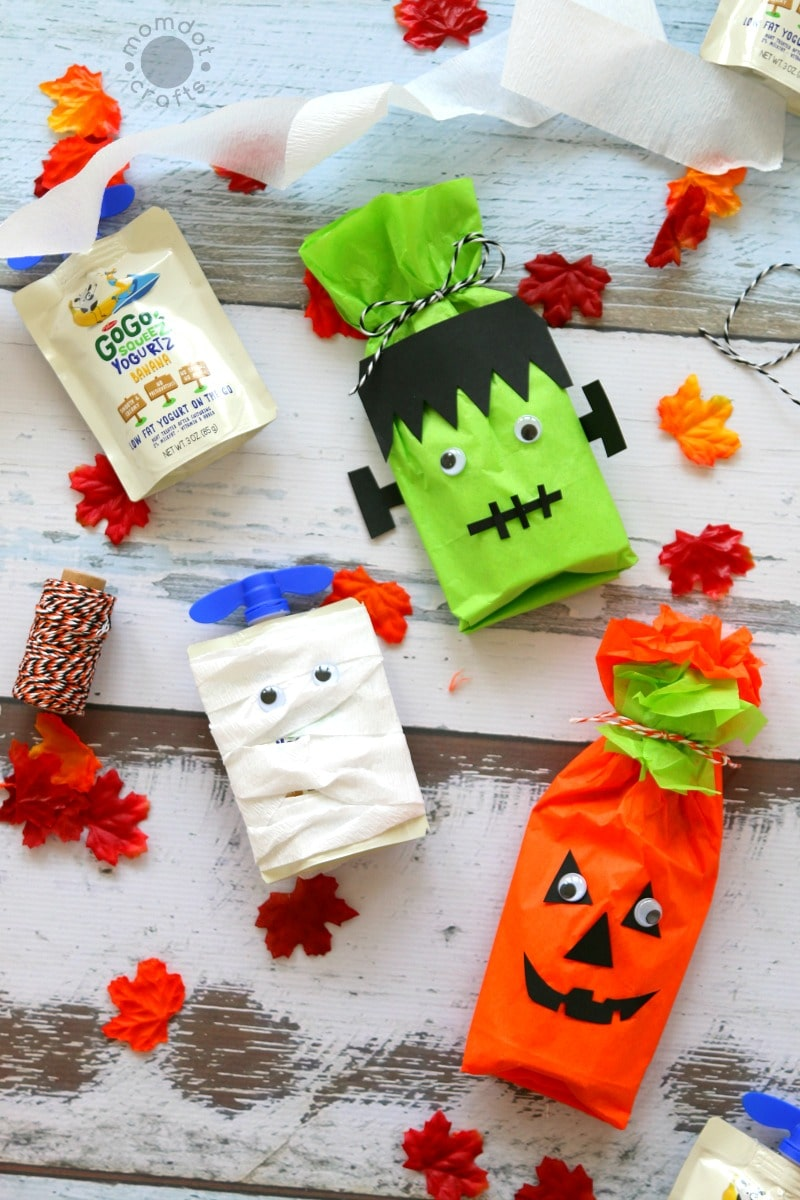 no candy halloween treat ideas create frankenstein pumpkin and mummy with this no candy