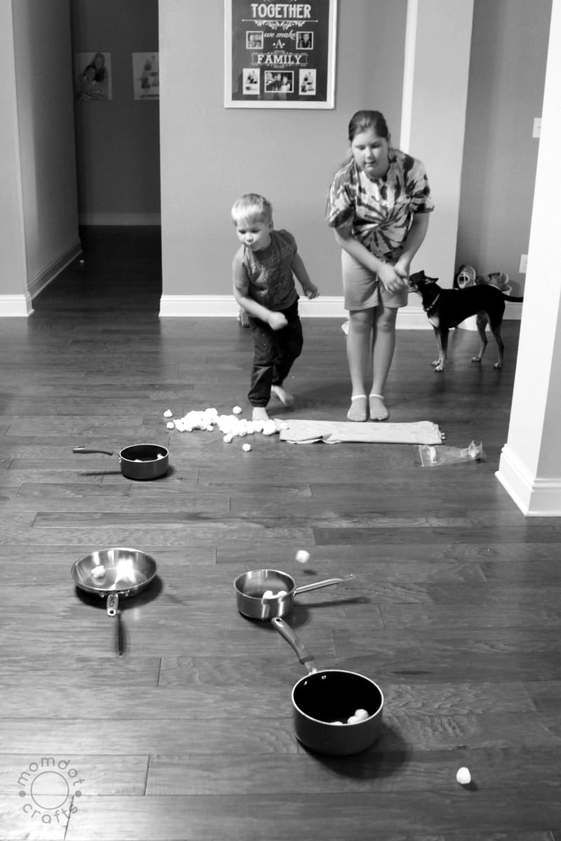 The Quiet Game : Simple indoor game with household items where the only noise is laughter, simple child game for parties, at home fun- DIY kids game