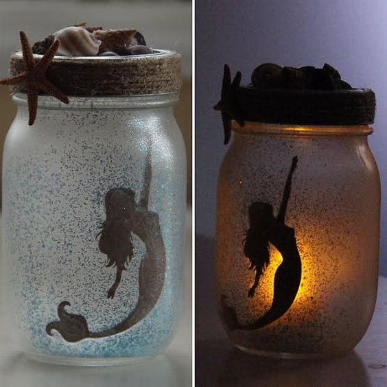mermaid mason jars