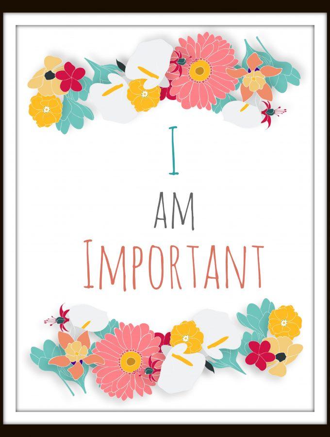 Free Self Affirmation Printables: Print some Positivity