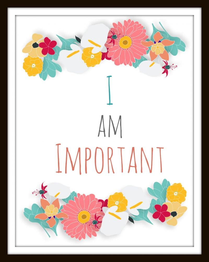 Self Affirmation Printables : Free Printable set perfect for positive messages in office, home, teenager and girls room, download and frame all four today!