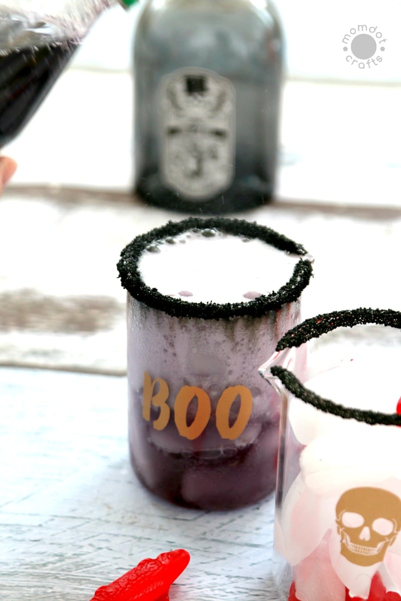 """Halloween Drink: Non-Alcoholic Childs Drink for Parties """"Sleeping with the Fishes"""" Spooky Drink - Tutorial and Recipe located here"""