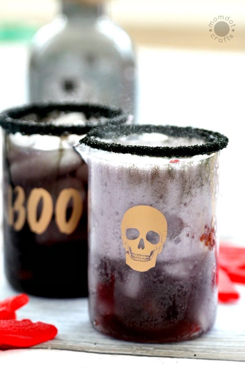 "Halloween Drink: Non-Alcoholic Childs Drink for Parties ""Sleeping with the Fishes"" Spooky Drink - Tutorial and Recipe located here"