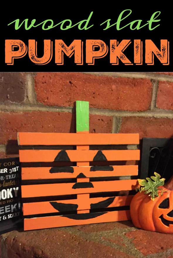 Wooden Slat Pumpkin Craft and DIY for Halloween and fall fun