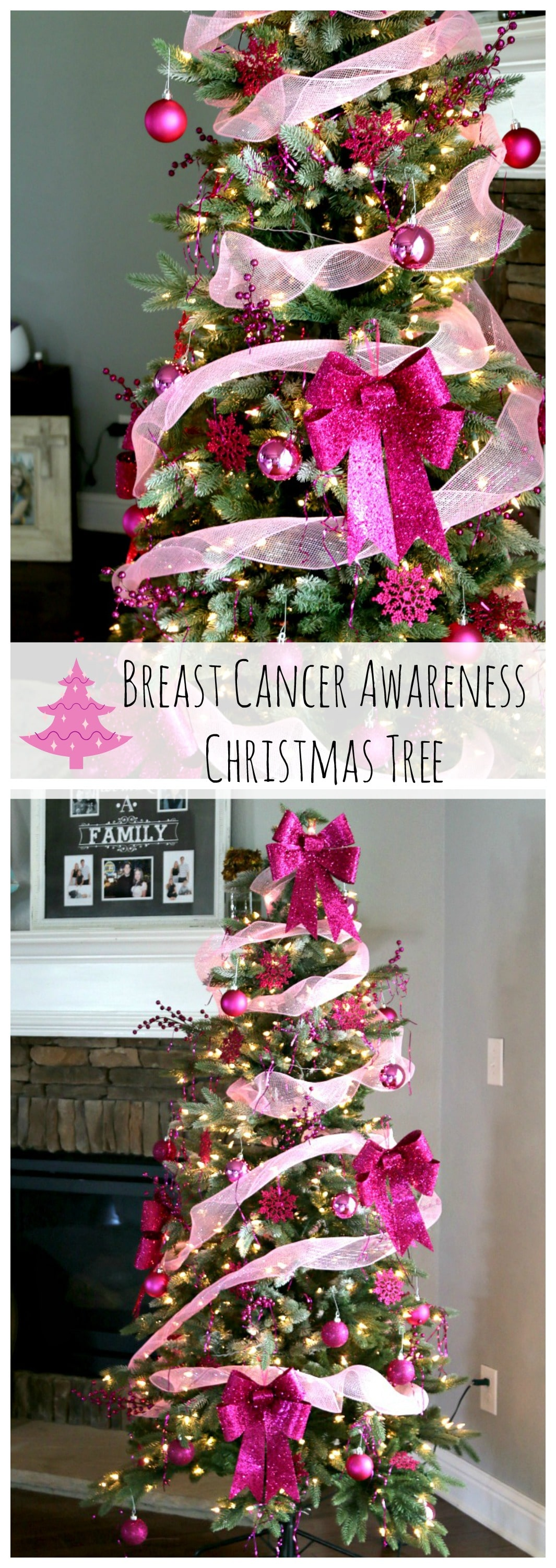 Breast Cancer Awareness Christmas Tree decorations