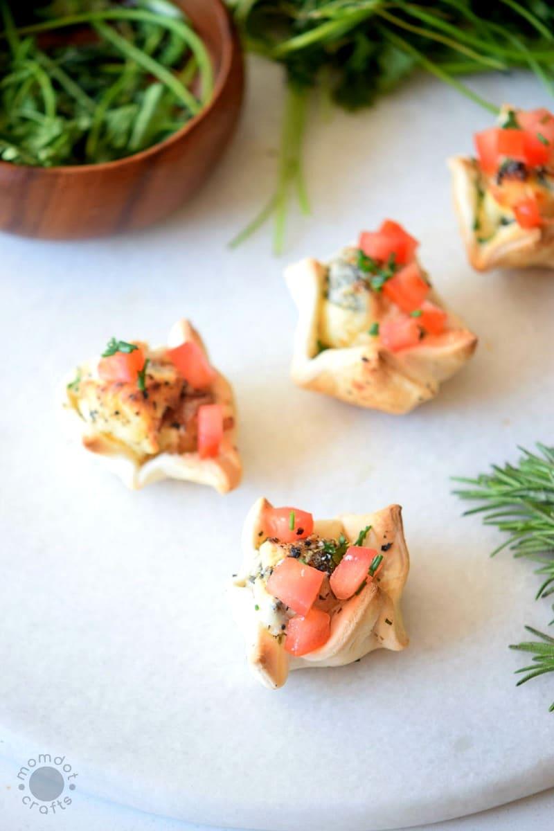 Caprese Salad Bites Recipe - Enjoy mini bites of heaven with caprese wrapped in fluffy pie crusts