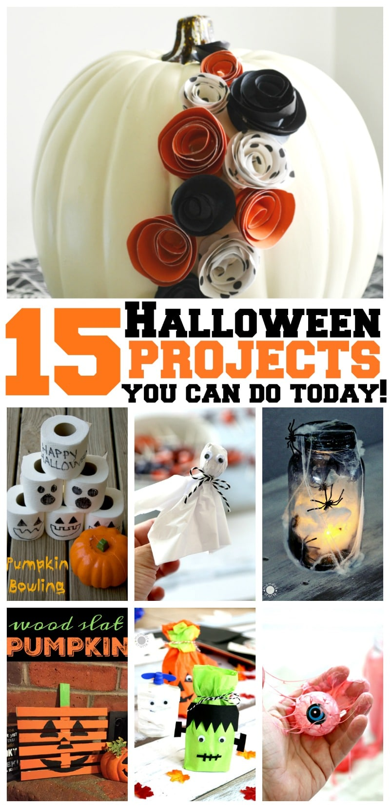 15 Halloween Projects you can do today - easy DIY Halloween ideas that are friendly, fun, and you can complete today