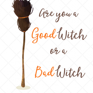 Free Halloween Print: Are you a Good Witch or a Bad Witch
