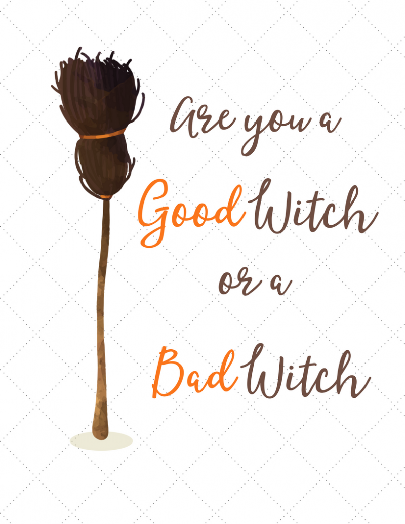 Free Halloween Print (free download printable) - simply print on cardstock and put in frame for instant cost free Halloween decor!