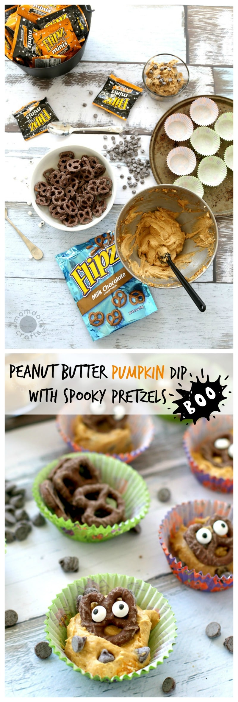 Cookie Dough Dip + Peanut Butter Pumpkin Dip- Two recipes that are delightful with pretzels and fun to serve at parties in individual servings, grab the dip recipes here