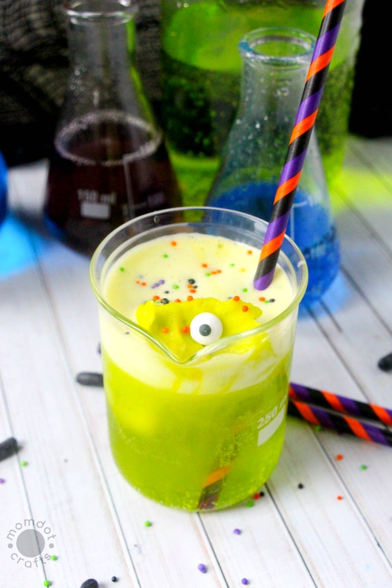 frankenstein punch: halloween punch for kids! -