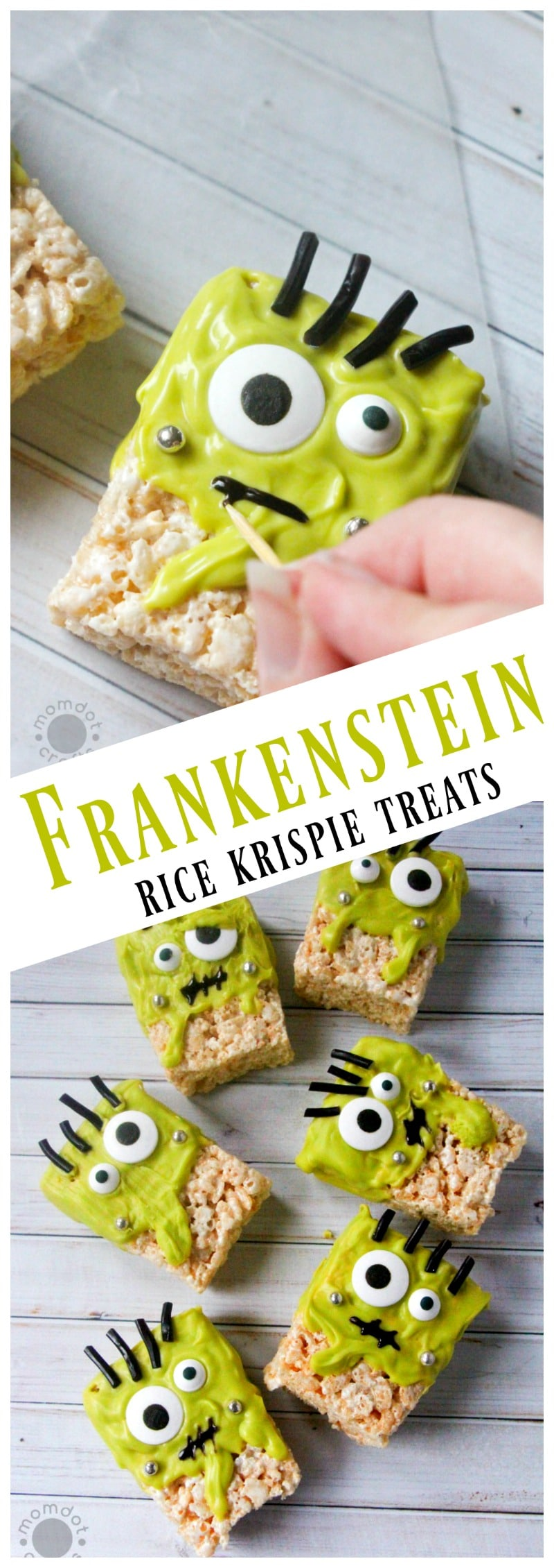 frankenstein rice krispie treat recipe a halloween holiday rice krispie monster recipe that is fun