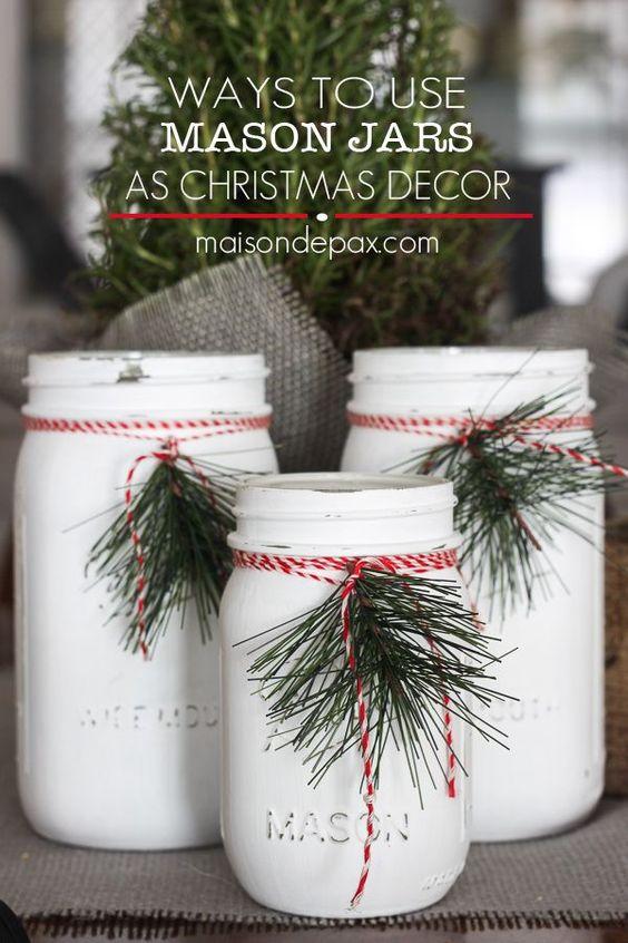 Fun ways to use mason jars for christmas decorations