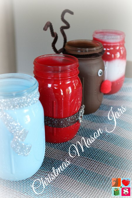 how to make a santa mason jar