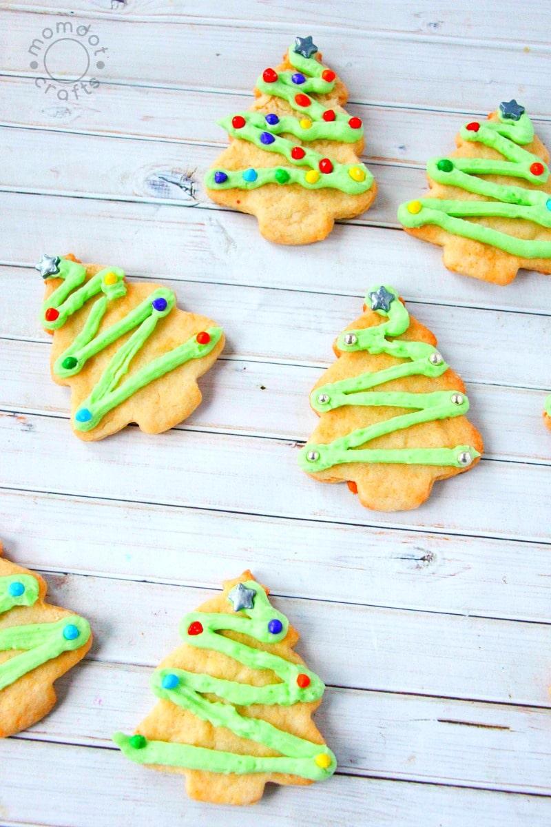 Christmas Tree Sugar Cookies - MomDot