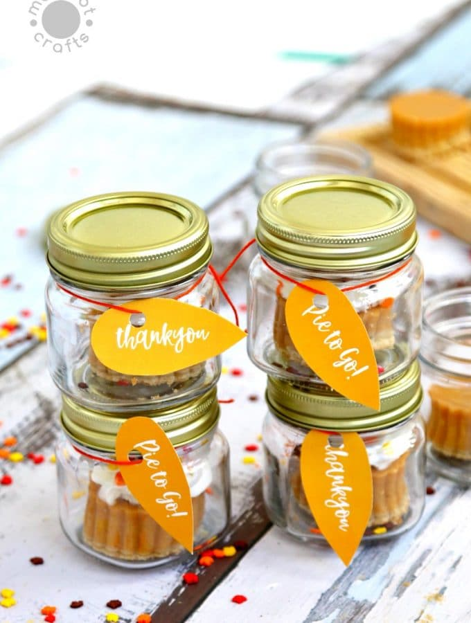 Pumpkin Pie to Go in Mini Mason Jars