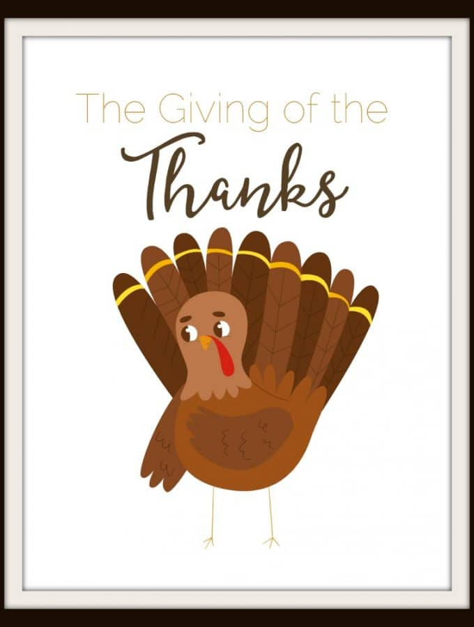 Thanksgiving Printable: Giving of the Thanks