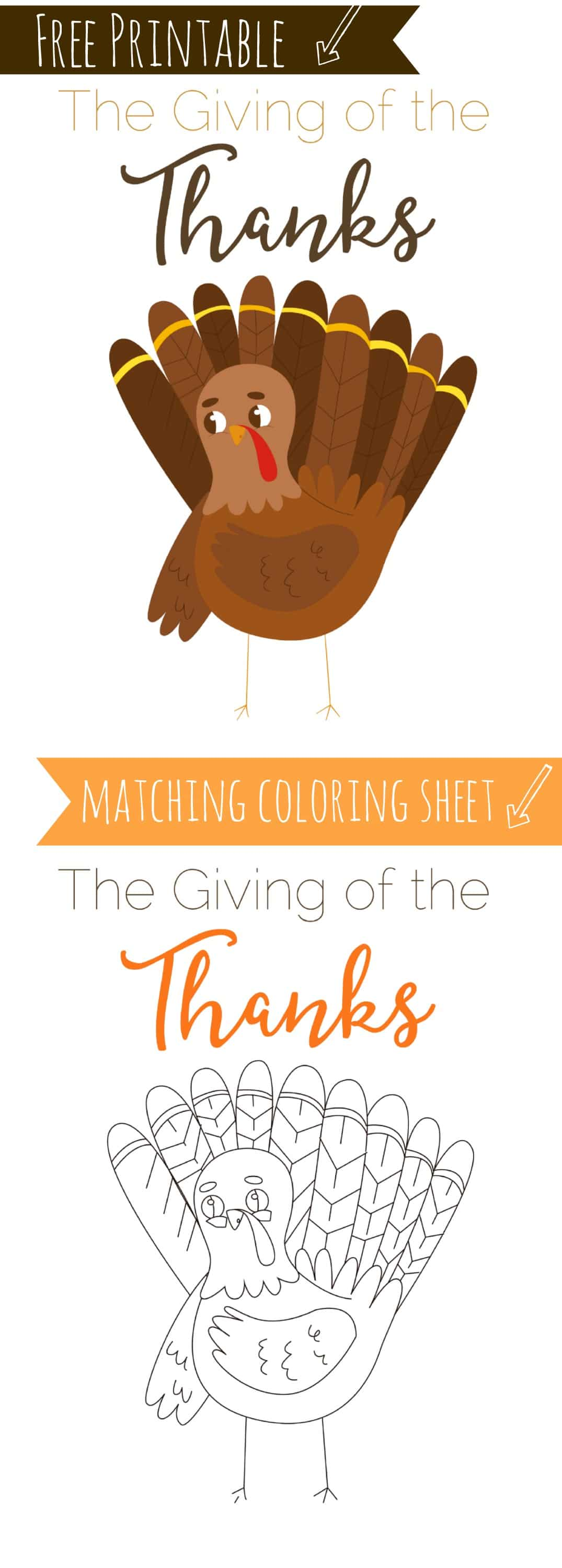 Thanksgiving Free Printable , Home Print and Frame, Instantly decorate for the holidays, plus free coloring sheet