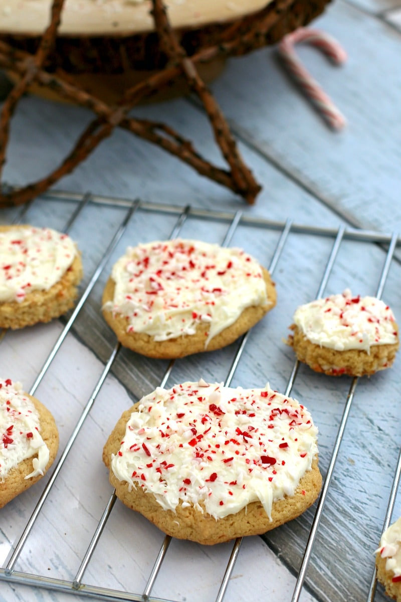 Peppermint Sugar Cookie Recipe, perfect for Christmas and with a Surprise ingredient that makes it EXTRA pepperminty!