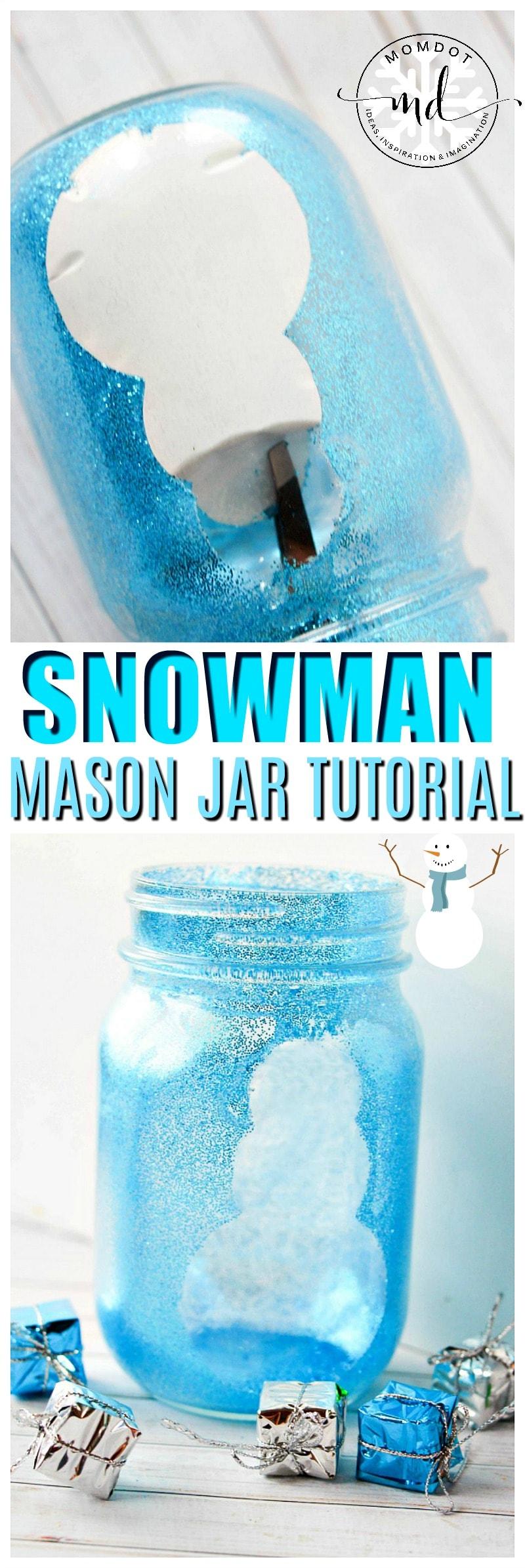 Snowman Mason Jar Crafts Christmas Mason Jar Idea