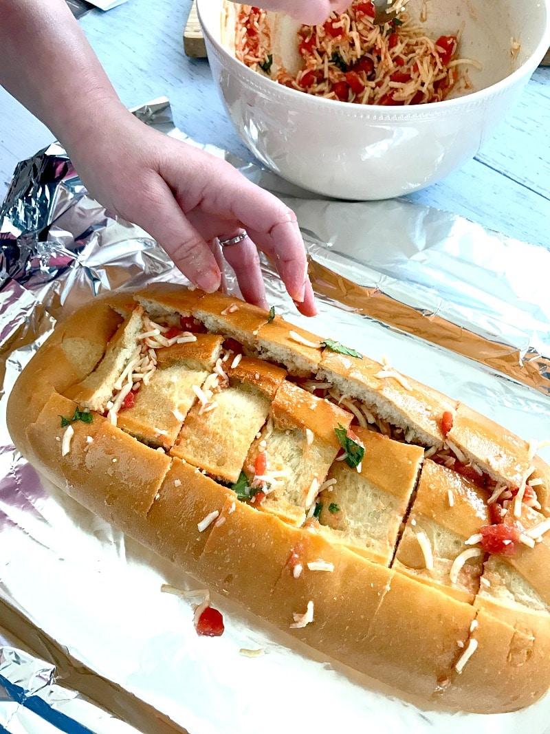Cheesy Bruschetta Pull-Apart Bread (Recipe)