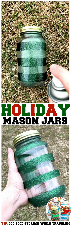 Mason Jar Dog Food Travel Storage -