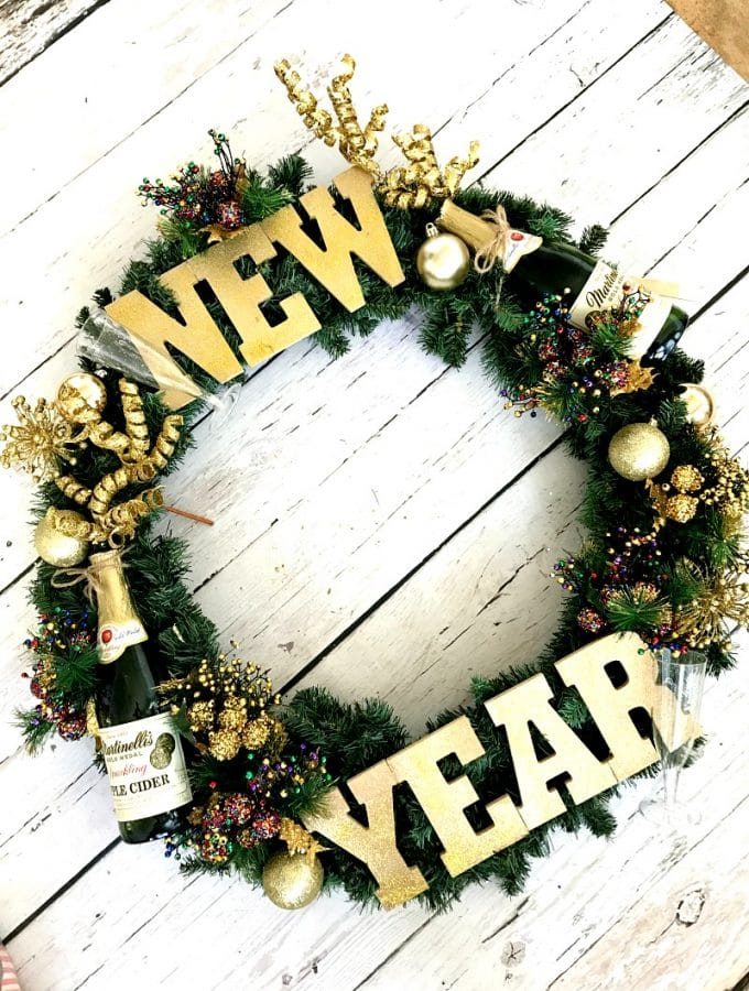 New Year's Eve Wreath DIY
