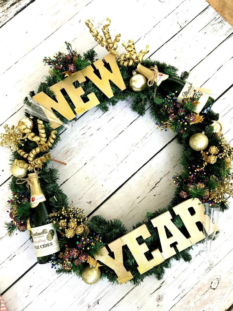 New Year's Eve Wreath DIY