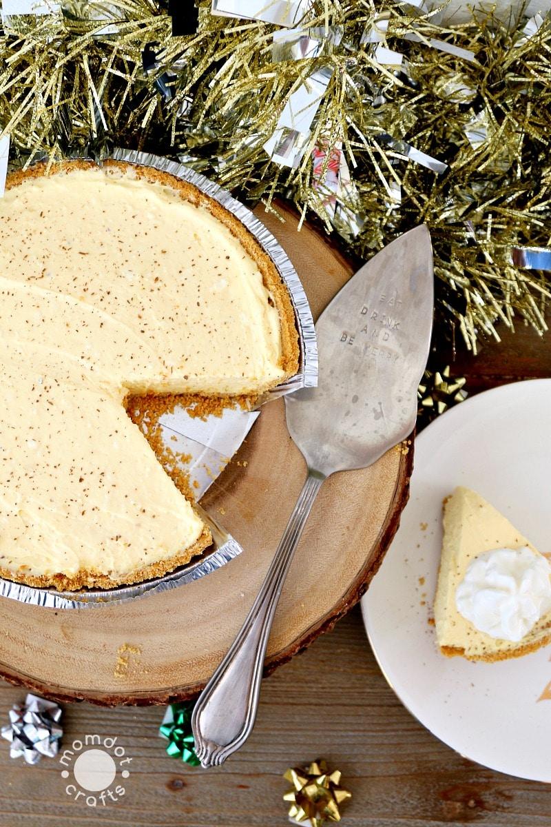 Easy No Bake Eggnog Cheesecake