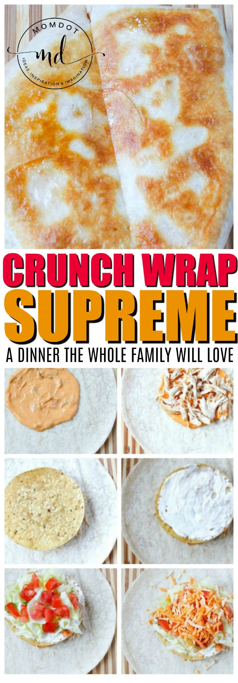 Crunchwrap Supreme Copycat | Easy 5 minute dinner the whole family will love | Homemade Supreme Wrap #food #recipes #copycat